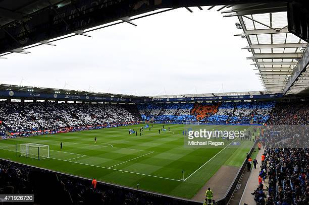 A general view showing Leicester City fans during the Barclays Premier League match between Leicester City and Newcastle United at The King Power...
