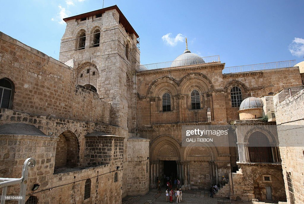 A general view showing one of Christianity's holiest site The Church of the Holy Sepulchre also know as the Basilica of the Resurrection for the...
