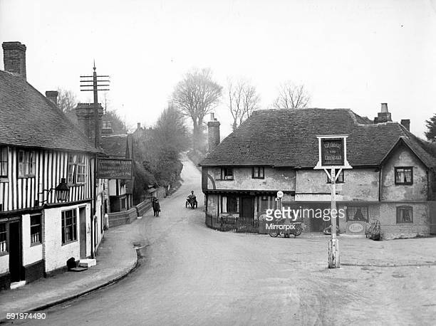 General view showing the main street passing through the village of Ightham in Kent Circa 1935