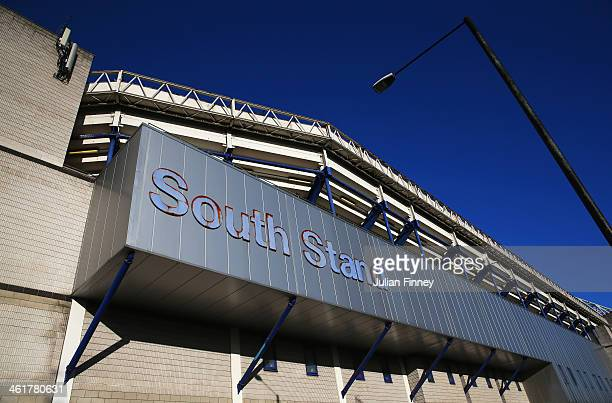 A general view showing the outside of the south stand prior to the Barclays Premier League match between Tottenham Hotspur and Crystal Palace at...