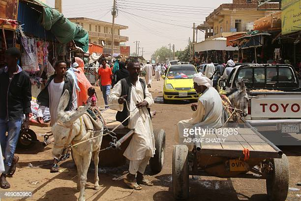A general view shows a market in Shendi the hometown of Sudanese President Omar alBashir located on the banks of the Nile in Sudan's Arab heartland...