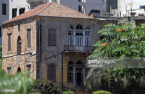 HUSSEIN A general view shows a traditional Lebanese house in Beirut's suburb of Jemmayzeh on June 5 2013 A new highway touted as a way to ease...