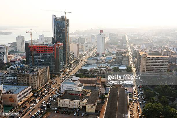A general view shows buildings under construction in Maputo on the eve of the 40th anniversary of Mozambique's independence from Portugal on June 24...