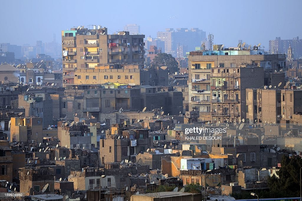 A general view shows Cairo's buildings on January 23, 2013 in the centre of the Egyptian capital.