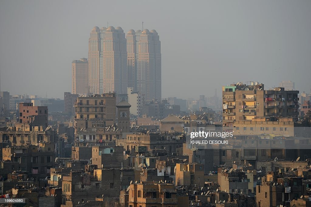 A general view shows Cairo's buildings on January 23, 2013 in the centre of the Egyptian capital. AFP PHOTO/KHALED DESOUKI