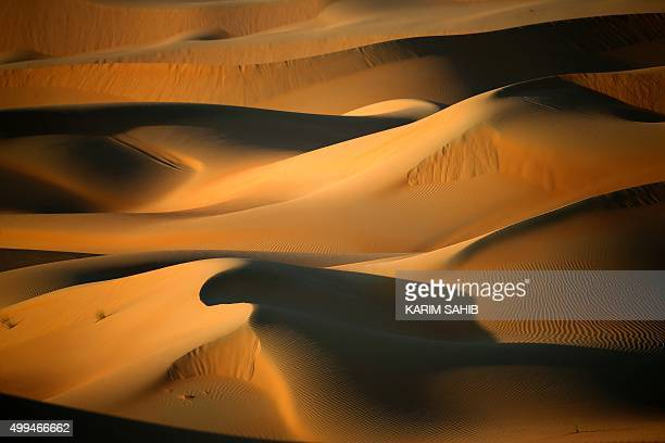 A general view shows dunes in the Liwa Oasis southwest of the Emirati capital Abu Dhabi on December 1 2015 / AFP / KARIM SAHIB