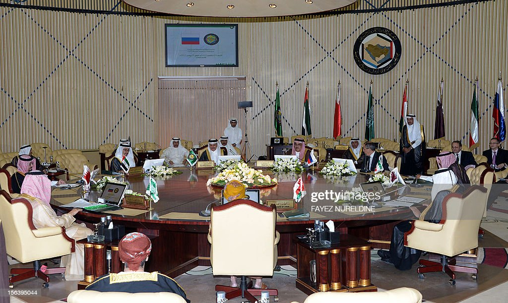 A general view shows Gulf Cooperation Council (GCC) Foreign Minister's meeting with their Russian counterpart Sergey Lavrov, on November 14, 2012 Riyadh. RESTRICTED TO EDITORIAL USE - MANDATORY CREDIT 'AFP PHOTO/HO/SPA' - NO MARKETING NO ADVERTISING CAMPAIGNS - DISTRIBUTED AS A SERVICE TO CLIENTS
