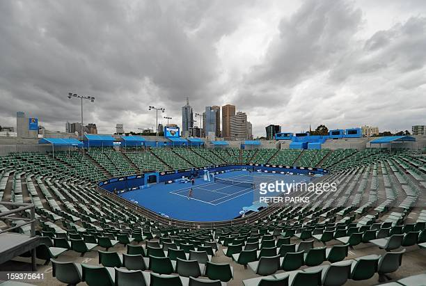 A general view shows Margaret Court arena ahead of the Australian Open tennis tournament in Melbourne on January 13 2013 AFP PHOTO / PETER PARKS...