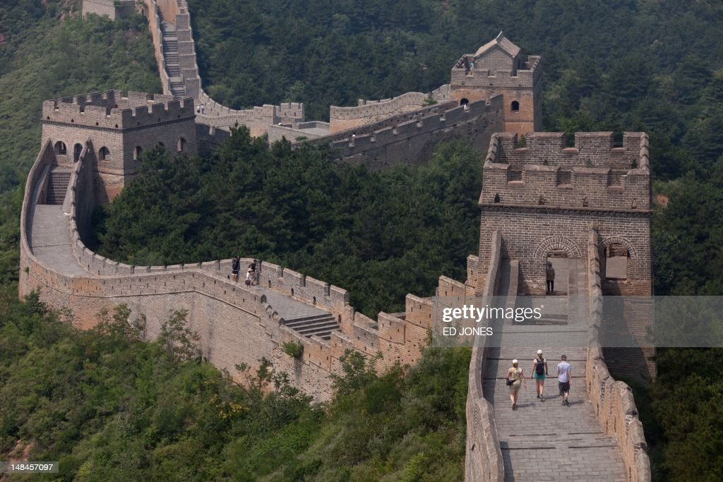 A general view shows part of the Jinshanling section of the Great Wall of China in Hebei province on July 17 2012 Parts of the Great Wall began to be...