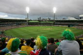 A general view shows spectators watching play during the Commonwealth Bank One Day International Series second final match between Australia and...