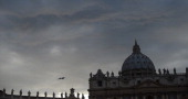 A general view shows St Peter's basilica and the colonnade on March 18 2013 at the Vatican on the eve of Pope Francis inauguration mass The leader of...
