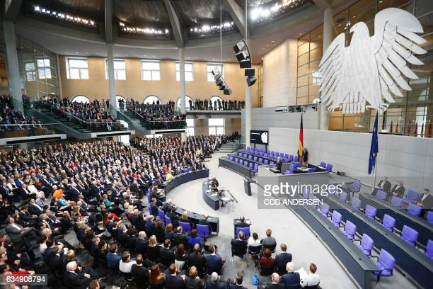 General view shows the 1260strong special Federal Assembly made up of national lawmakers and electors sent from Germany's 16 states among them...