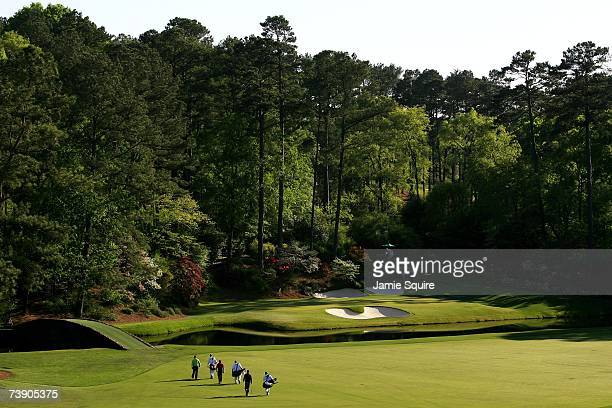 A general view shows the 12th hole during the second round of the 2007 Masters Tournament at Augusta National Golf Club on April 6 2007 in Augusta...