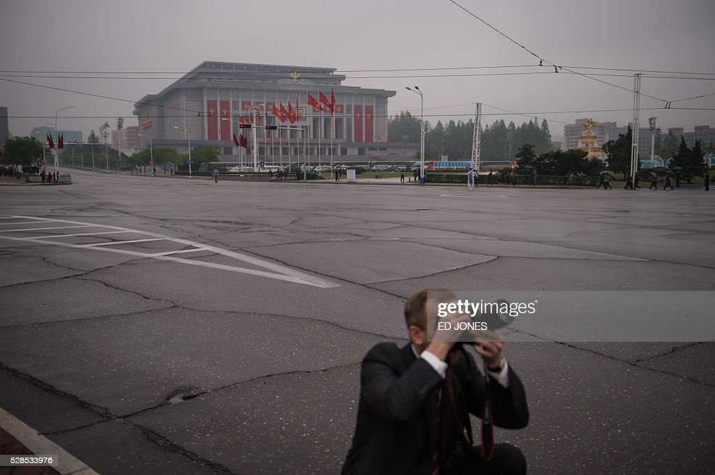 A general view shows the 'April 25 Palace', the venue of the 7th Workers Party Congress in Pyongyang on May 6, 2016. North Korea on May 6 kicked off its biggest political show for a generation, aimed at cementing the absolute rule of leader Kim Jong-Un and shadowed by the possibility of an imminent nuclear test. / AFP / Ed Jones