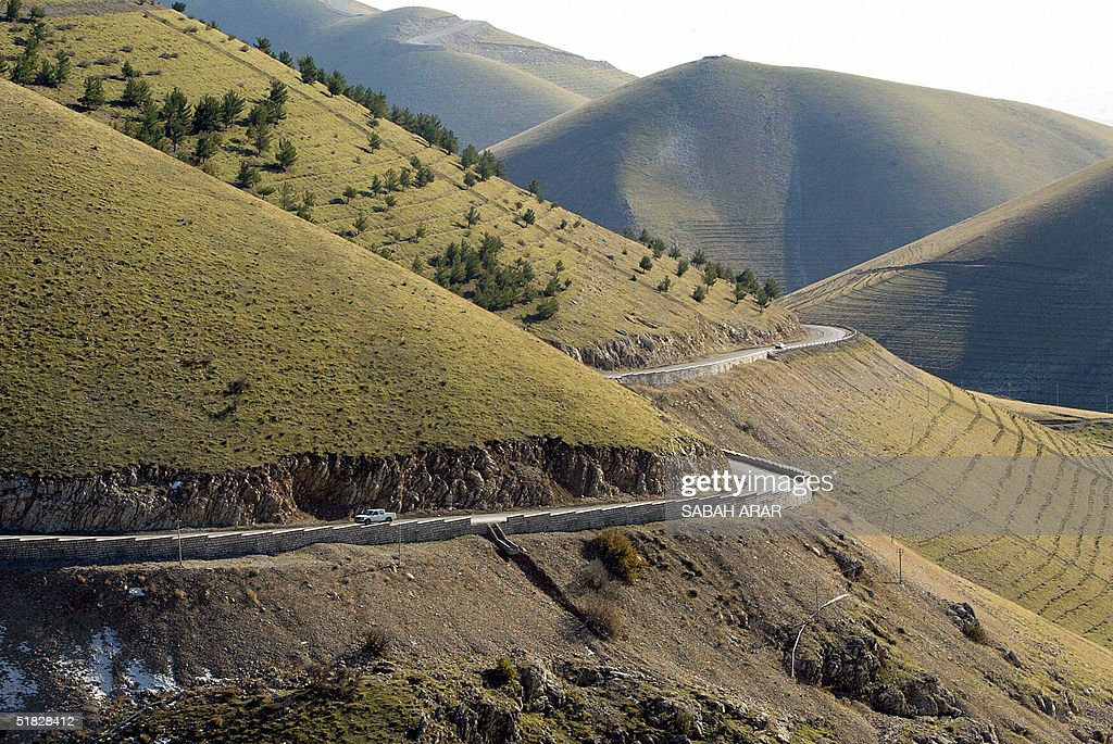 A general view shows the Azmar mountains north of the Iraqi Kurdistan city of Sulaimaniyah 350 kms northeast of Baghdad 05 December 2004 The...