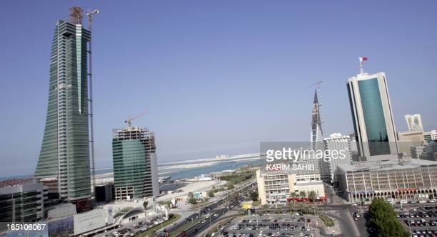 A general view shows the Bahraini capital Manama 23 November 2006 Bahrainis cast their ballots 25 November 2006 to elect a new parliament with the...