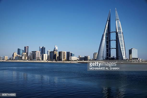 A general view shows the Bahraini capital Manama on February 10 2016 Five years after the popular uprising was harshly repressed the Kingdom of...