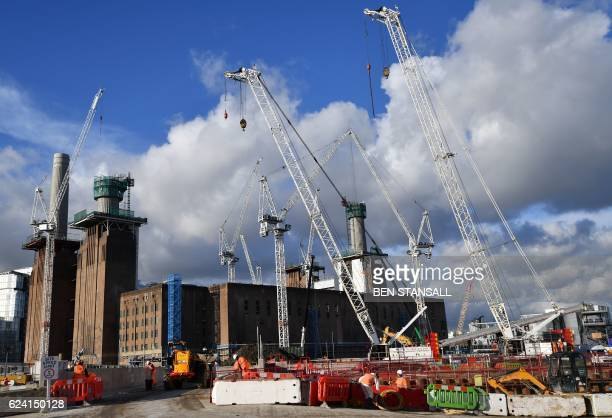 A general view shows the Battersea Power Station development in Nine Elms south west London on November 18 2016 / AFP / BEN STANSALL