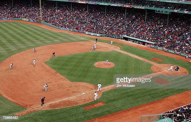 A general view shows the Boston Red Sox home opener against the Seattle Mariners at Fenway Park on April 10 2007 in Boston Massachusetts