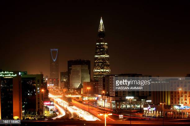 A general view shows the bustling Saudi capital Riyadh Late 03 October 2007 AFP PHOTO/HASSAN AMMAR