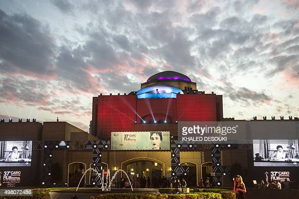 A general view shows the Cairo opera House during the Closing ceremony of the 37th Cairo International Film Festival in Cairo on November 20 2015 AFP...