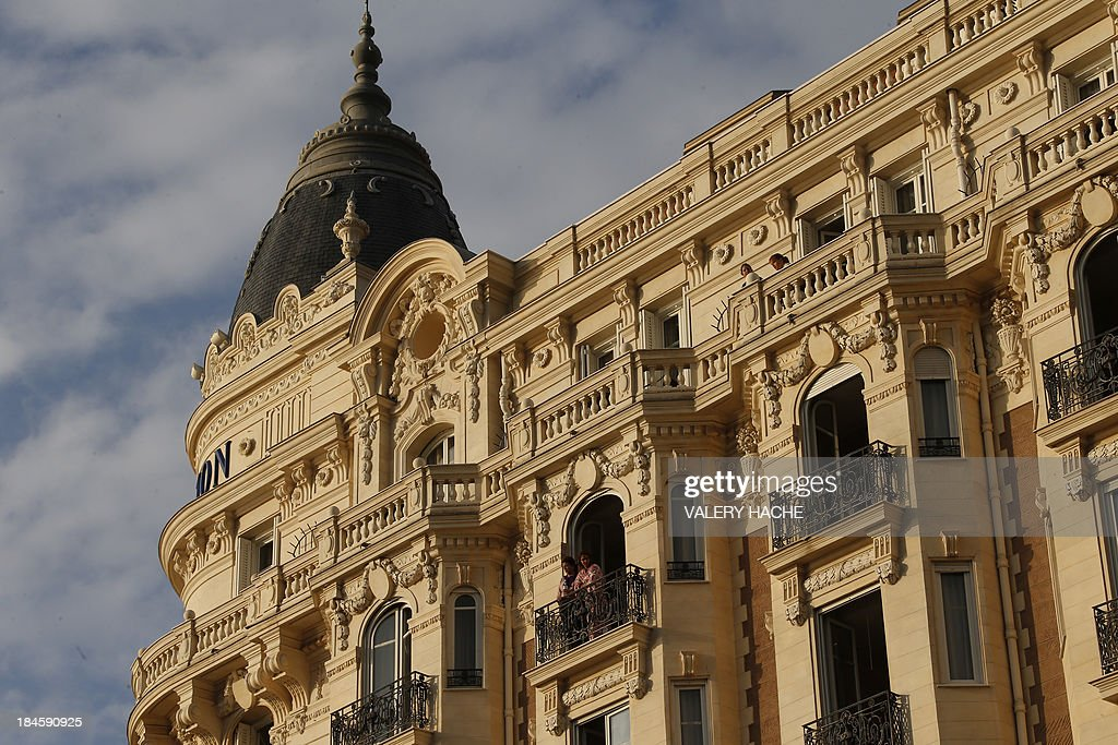 A general view shows the Carlton Hotel in the southeastern French city of Cannes on October 14, 2013 during the wedding party of a London-based Indian couple. The Carlton palace was entirely booked for several nights to accomodate guests for the wedding of Grover and Ria Dubash.