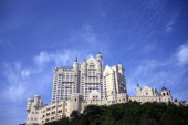 A general view shows the Castle Hotel part of the luxury Starwood Hotels chain in the seaport city of Dalian in northeast China's Liaoning province...
