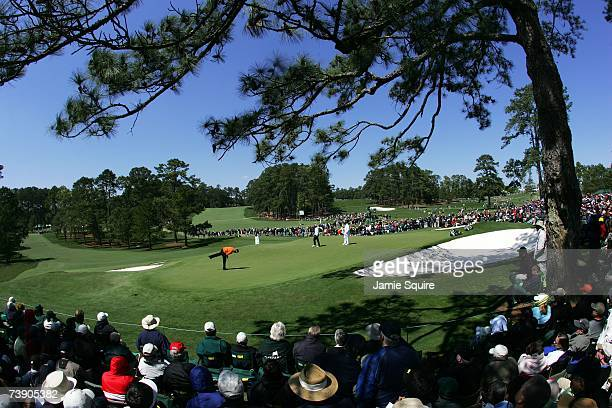 A general view shows the course during the third round of the 2007 Masters Tournament at Augusta National Golf Club on April 7 2007 in Augusta Georgia