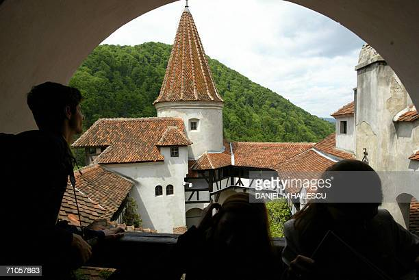 General view shows the courtyard of the Bran Castle known as Dracula Castle 200km north of Bucharest 26 May 2006 Dominic of Habsburg a New York...