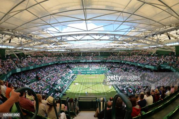 A general view shows the Gerry Weber Stadium during the ATP Gerry Weber Open tennis tournament in Halle western Germany on June 12 2014 AFP PHOTO /...
