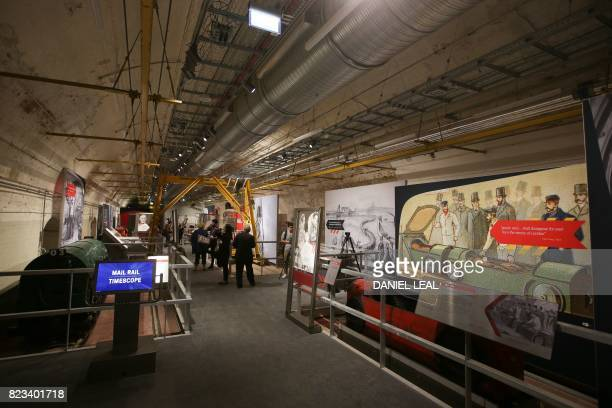 01 GMT / A general view shows the inside of one of the galleries near the Mail Rail tunnels during a media preview of the new Postal Museum and the...