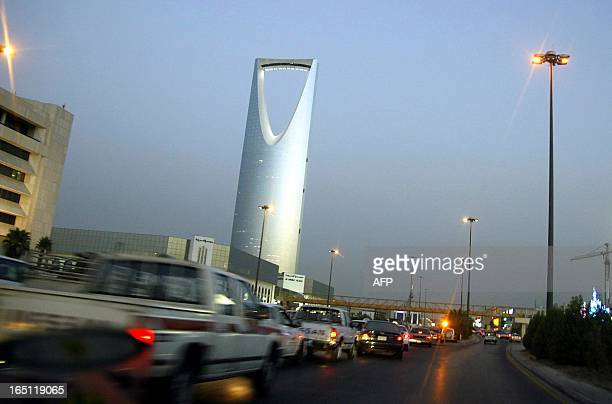 A general view shows the Kingdom Tower late 11 July 2004 a landmark of Riyadh owned by Saudi prince Walid bin Talal Yemen has begun recovering vast...