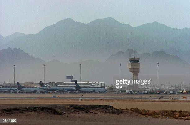 A general view shows the main runway and control tower of Sharm El Sheikh International Airport January 2004 A total of 148 people were aboard a...