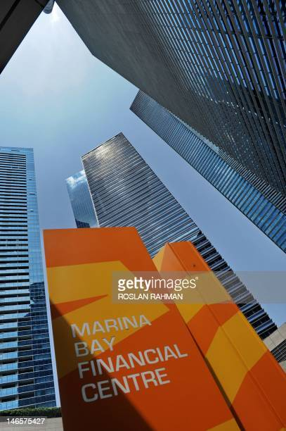 A general view shows the Marina Bay financial centre in Singapore on June 20 2012 The euro weakened in Asian trade on June 20 as eurozone fears...