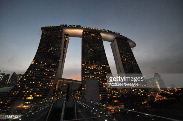 A general view shows the Marina Bay Sands hotels in Singapore on June 28 2012 Singapore on May 17 stuck to its economic growth projections of 1030...