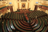 A general view shows the meeting hall of the Egyptian parliament in Cairo on January 22 2012 Egypt's newly elected parliament will convene for its...