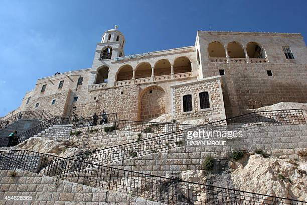 A general view shows the Monastery of Saidnaya northwest of Damascus on July 17 2009 AFP PHOTO/HASAN MROUE