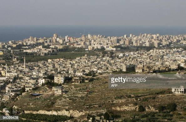 A general view shows the Palestinian refugee camp of Ain elHelweh on the outskirts of the southern Lebanese coastal city of Sidon on November 30 2009...