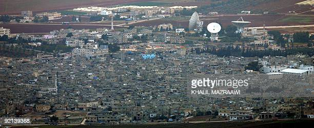 A general view shows the Palestinian refugee camp of Baqaa northwest Amman on October 13 2009 Dozens of cashstrapped people in Jordan were reportedly...