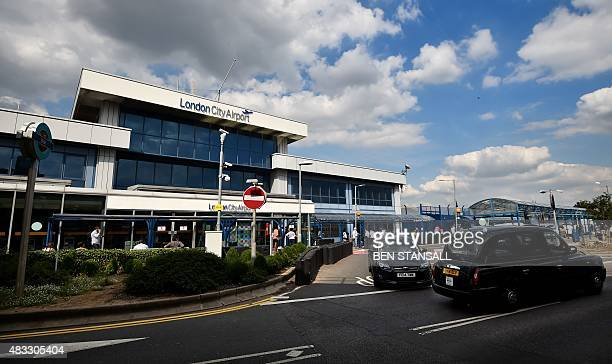 A general view shows the passenger terminal at London City Airport in London on August 7 2015 London City Airport has been put up for sale by...