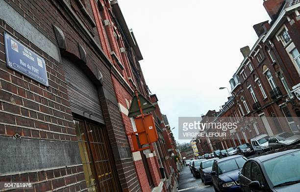 A general view shows the Rue du Fort street in Charleroi Belgium on January 13 2016 Belgian police have found two apartments and a house used by...