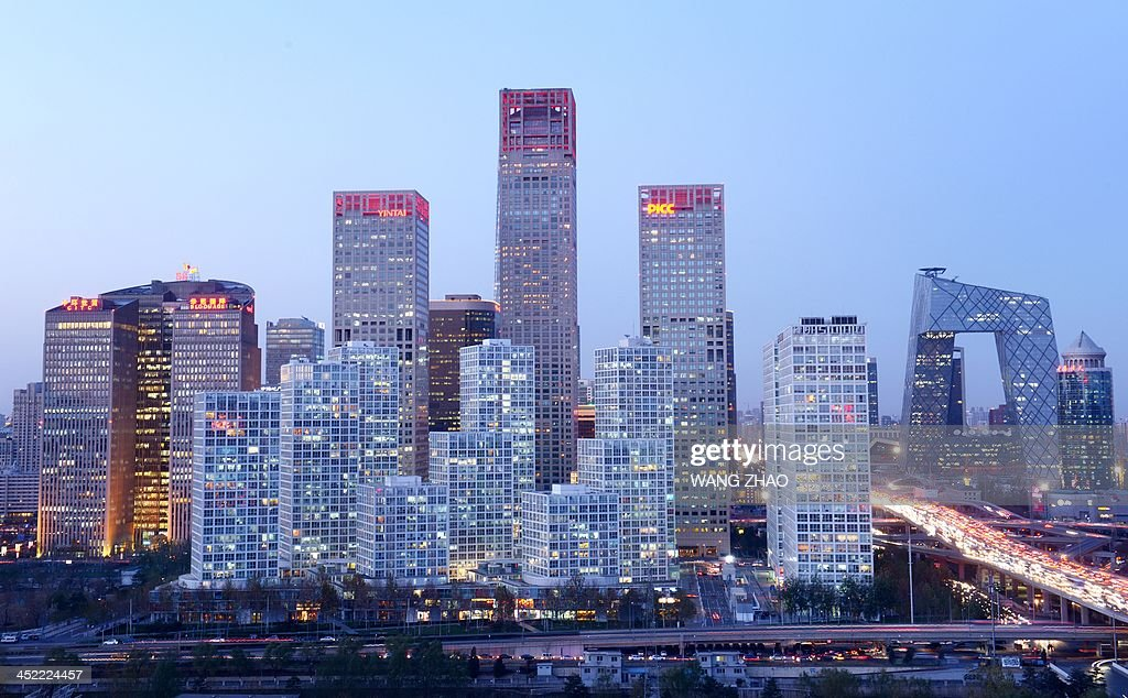 A general view shows the skyline of a central business district in Beijing on November 27, 2013. Foreign investment into China rose 5.77 percent on year in the first 10 months of 2013, the government said on November 19.