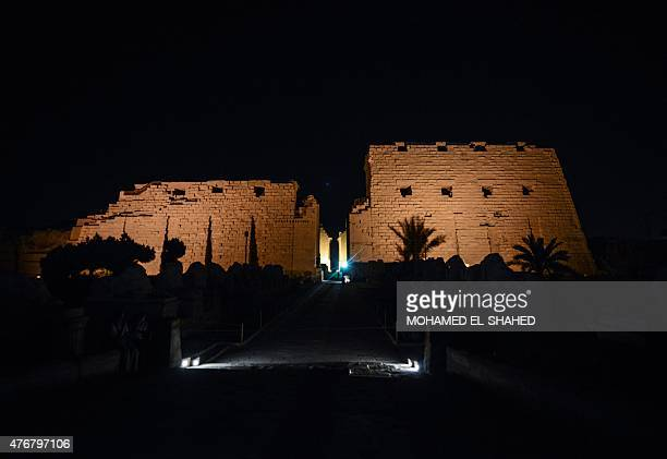 A general view shows the Temple of Amun at the Karnak temple complex in Luxor a town 700 kilometres south of the Egyptian capital Cairo on June 11...