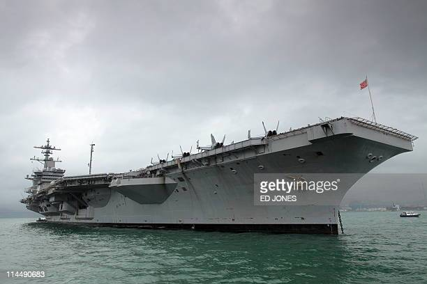 A general view shows the USS Carl Vinson aircraft carrier in Hong Kong on May 22 2011 The US Navy Nimitz class supercarrier from where Osama bin...