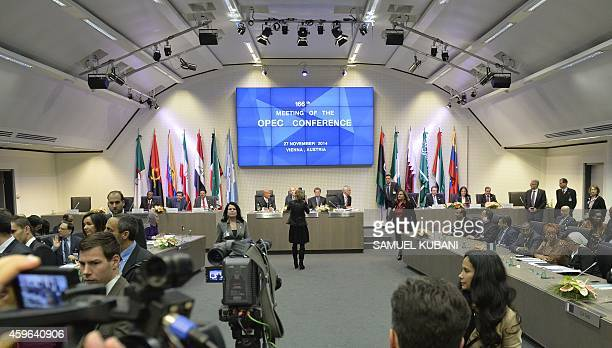 A general view shows the166th ordinary meeting of the Organization of the Petroleum Exporting Countries OPEC at their headquarters in Vienna Austria...
