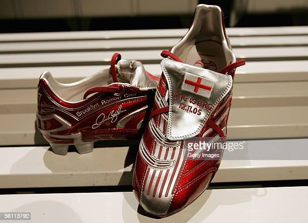 General view taken during the Adidas press launch of the new Predator Football boot on November 7 2005 in Las Rozas Madrid