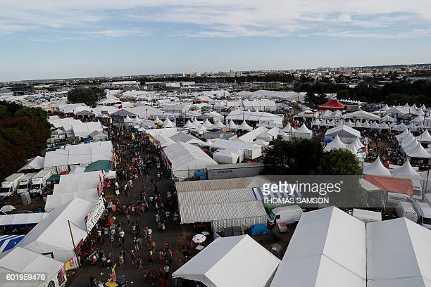 General view taken during the Fete de l'Humanite in La Courneuve near Paris on September 10 2016 / AFP / Thomas SAMSON