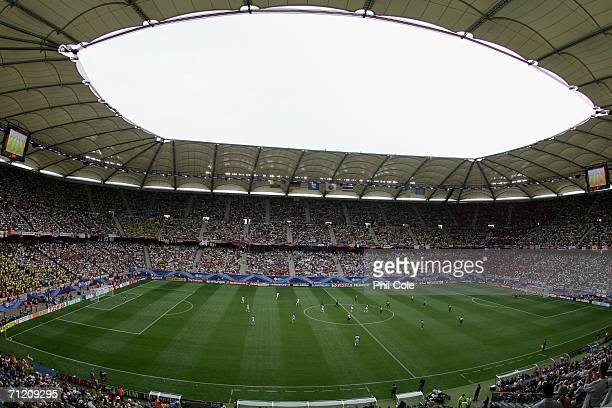 A general view taken during the FIFA World Cup Germany 2006 Group A match between Ecuador and Costa Rica at the Stadium Hamburg on June 15 2006 in...