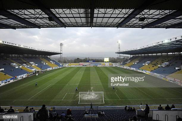 General view taken during the Gambrinus Liga match between FK Teplice and FK Mlada Boleslav held on October 24 2009 at the Na Stinadlech Stadium in...