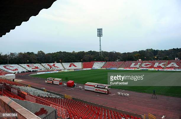 General view taken during the TBI A Football Group match between CSKA Sofia and Minyor Pernik on October 25 2009 at the Bulgarian Army Stadium in...